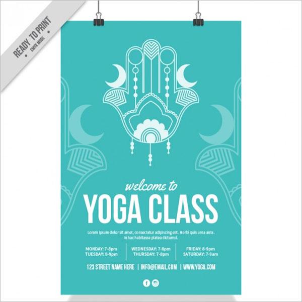 Human Yoga Poster Design