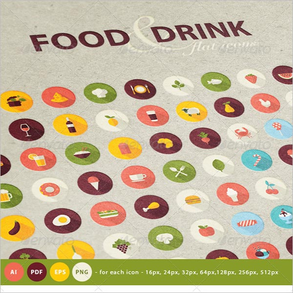 Icons For Food & Drink