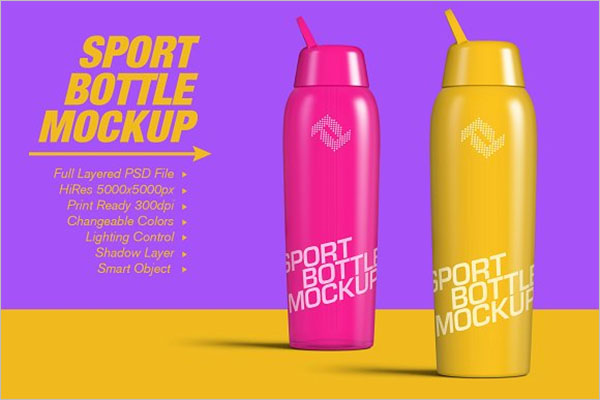 Ideas Sport Bottle Mockup