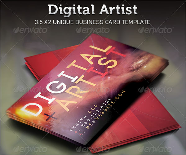 Illustration Artist Business Card