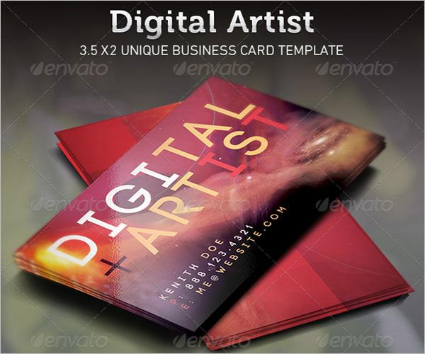Illustration Artist Business Card