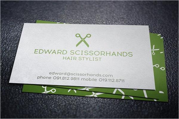 Indie Hair Stylist Business Card