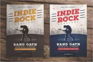 Indie Rock Music Flyer Template