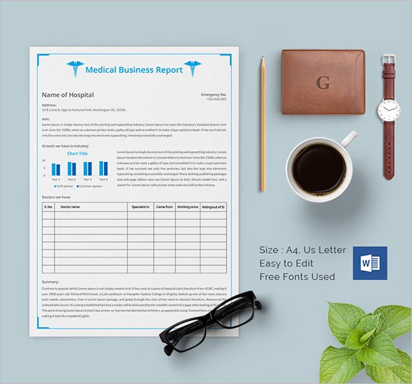 Investors Business Report Template