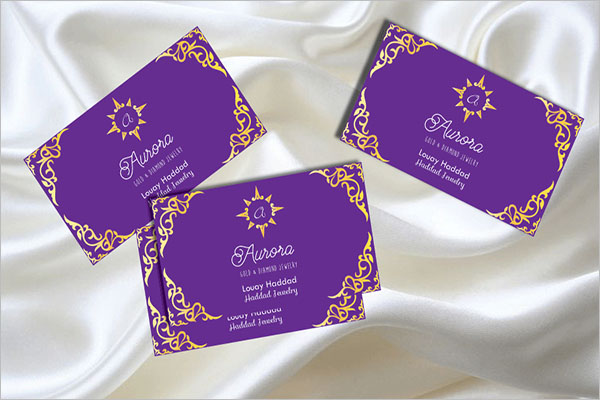 Jewelry Boutique Business Card Design
