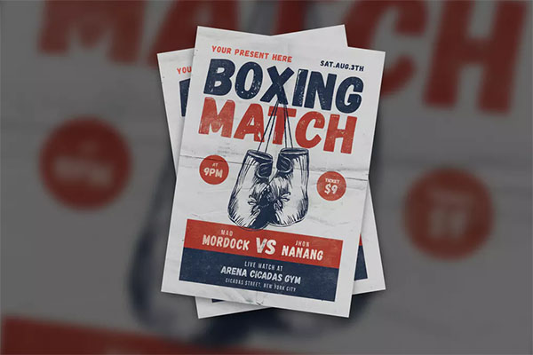 Kickboxing Flyer Design