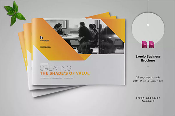Landscape Brochure Design PSD