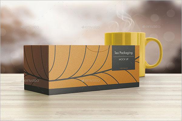 Landscape Tea Packing Mockup