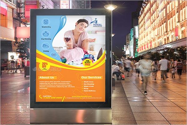 Laundry Advertising Poster Design