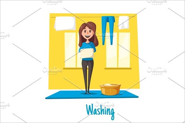 Laundry Poster Design Example