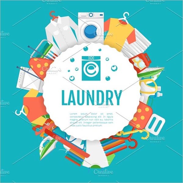 Laundry Service Poster Design