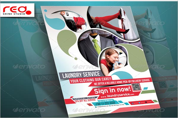 Laundry Service Poster Magazine Template