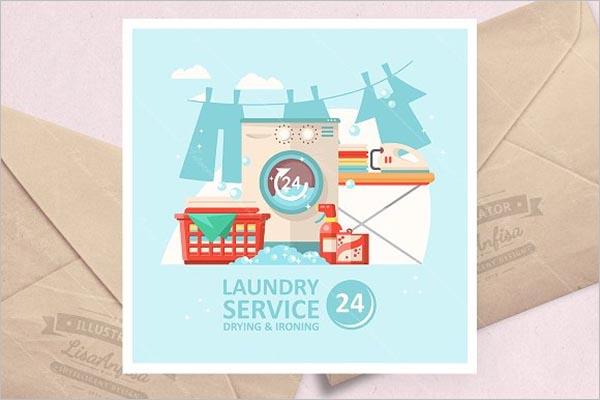 Laundry Service Vector Illustration