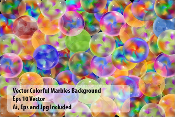 Light Marbles Background Template