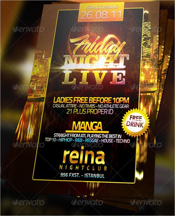 Live Nightclub Flyer Template