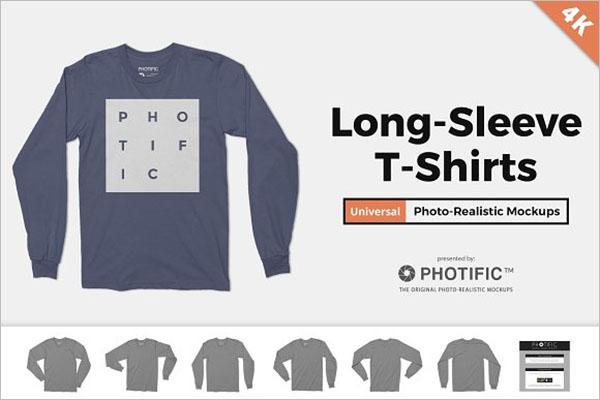 Long Sleeve T-Shirt Apparel Mockups