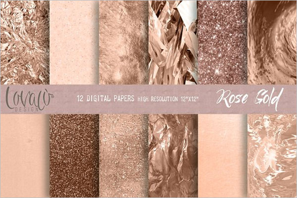 Luxury Rose Gold Background Design