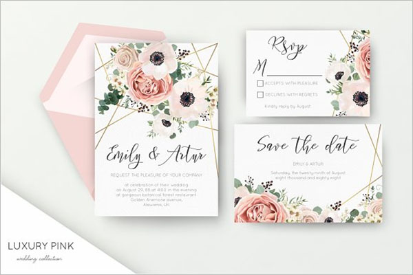 Luxury Wedding Invitation Background
