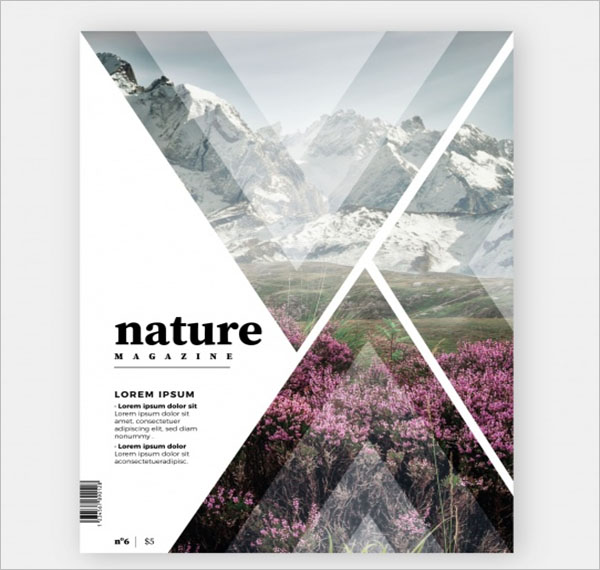 Magazine Cover Brochure Template
