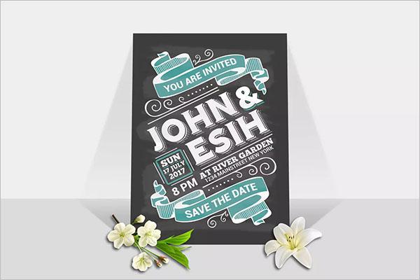 Marriage Invitation Background Design