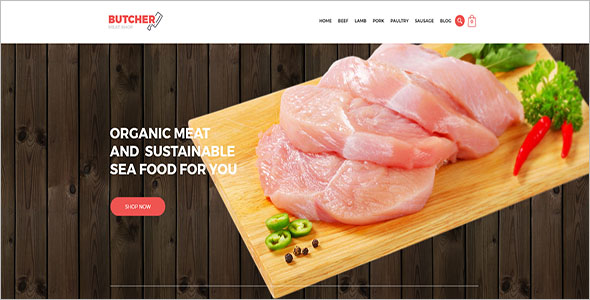 Meat Shop eCommerce OpenCart Theme