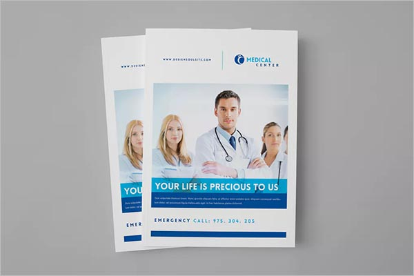 Medical Brochure Design Vector