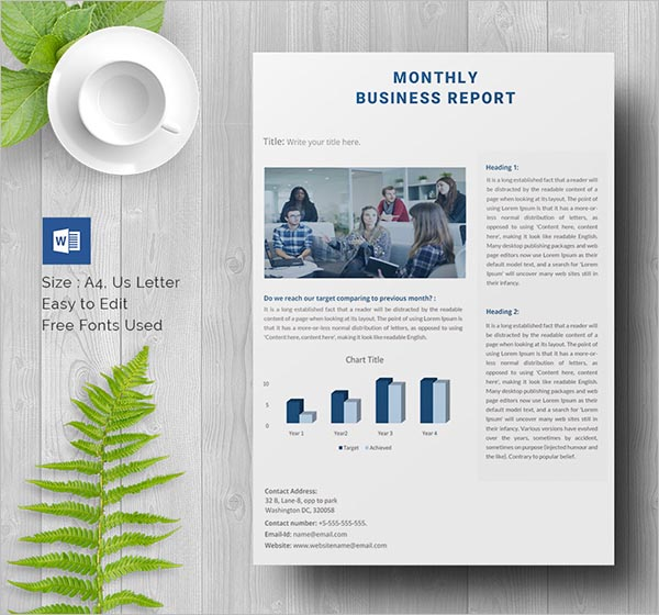 Medical Business Report Template