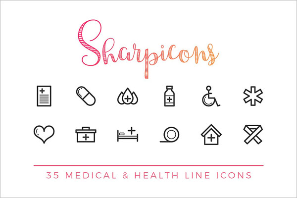 Search Creative Market Medical & Health Line Icons by Dreamstale Medical & Health Line Icons
