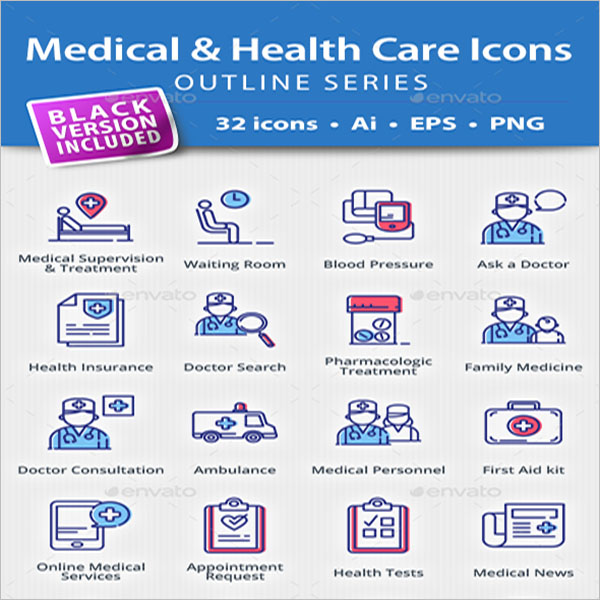 Medical & Health Vectors Icons