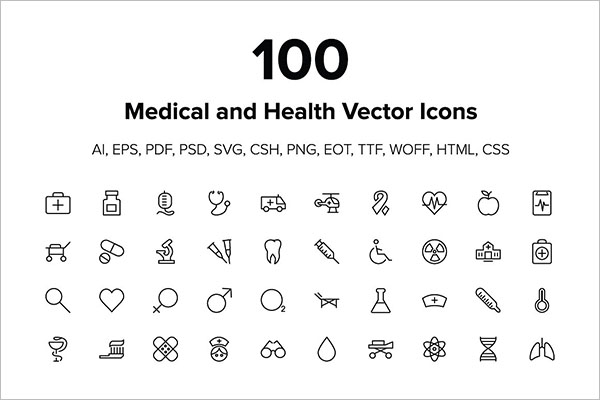 Medical and Health Vector Icons