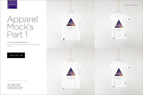 Men & Woman T-shirts Mock-up