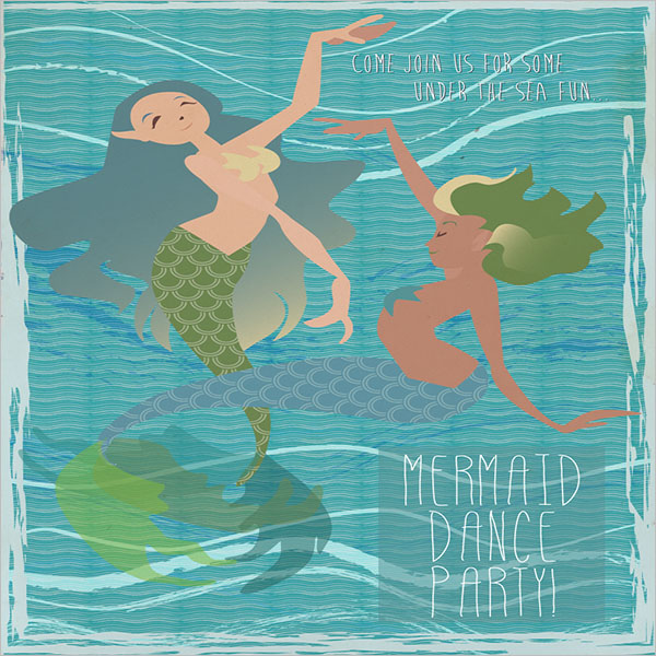 Mermaid Dance Party Poster