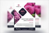 Minimal Flower Shop Flyer Design