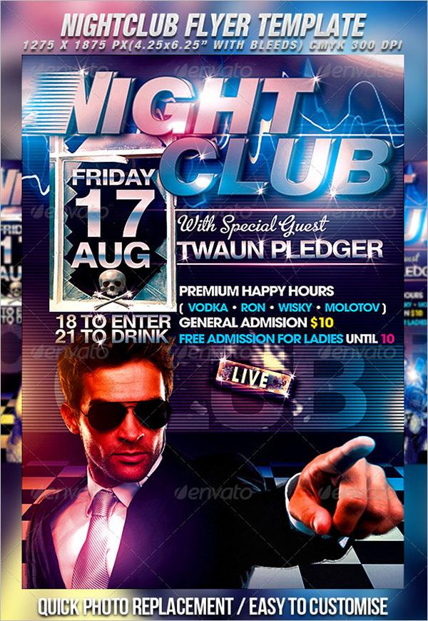 Minimal Nightclub Flyer Template
