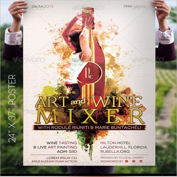 Minimal Wine Poster Design