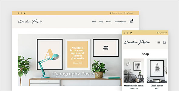 Minimal WooCommerce Theme for Creatives