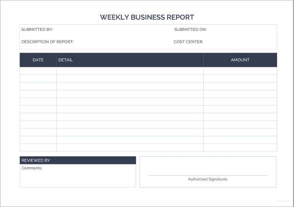 Modern Formal Business Report Template