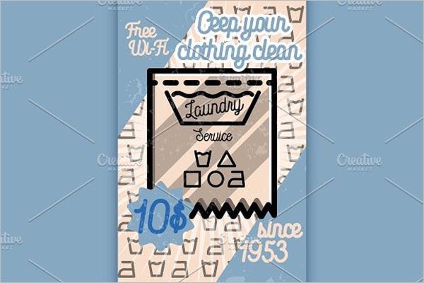 Modern Laundry Service Poster