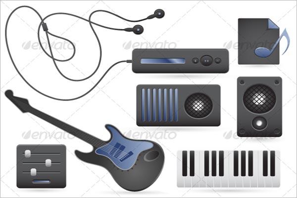 Modern Music Icon Design