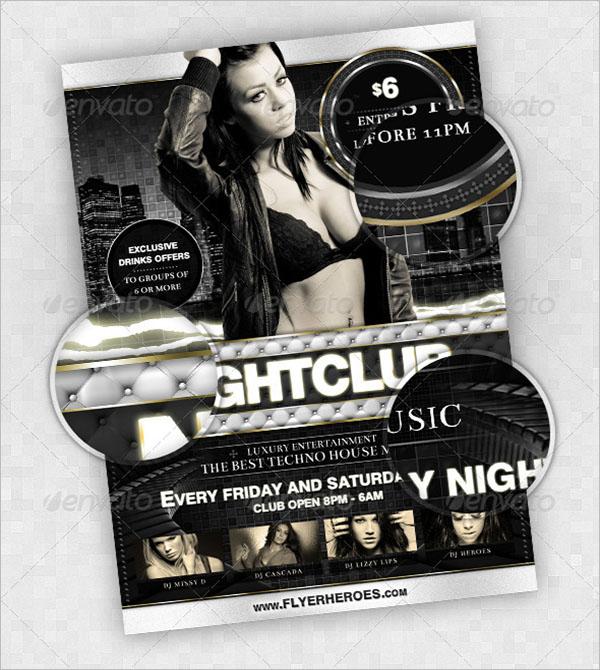 Modern Nightclub Flyer Template