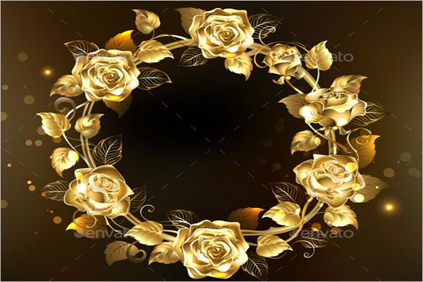 Modern Rose Gold Background Design