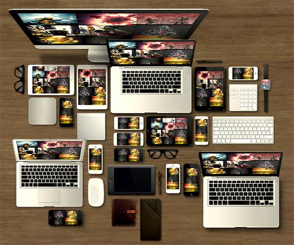 Modern Website Mockups