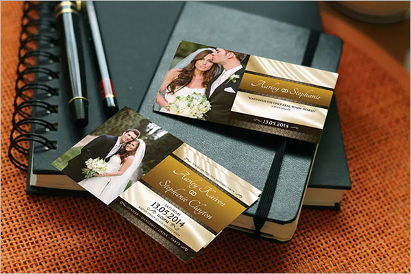 Modern Wedding Invitation Card Design