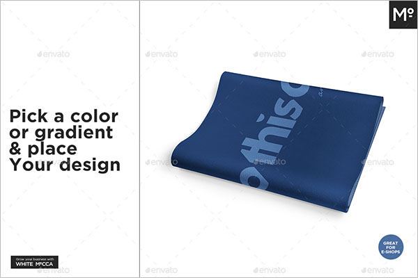 Modern Yoga Mat Mock-up