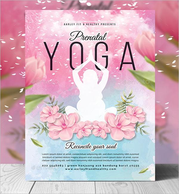 Mother Yoga Poster Design
