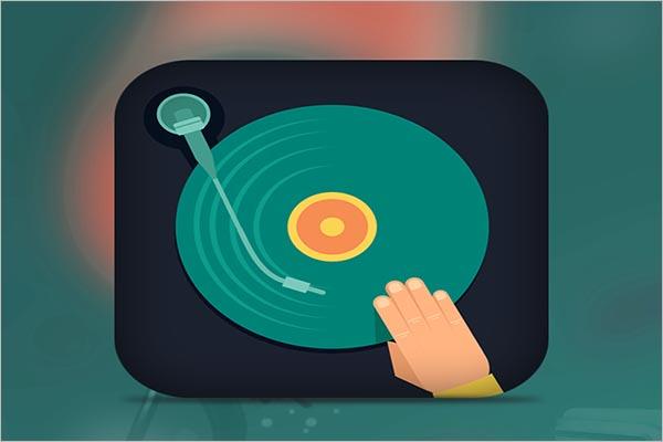 Music Icon Design Example