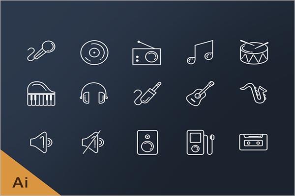 Music Icon Design Free Download