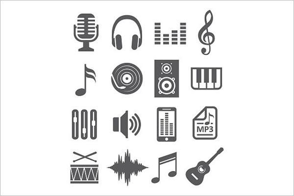 Music Icon Material Design