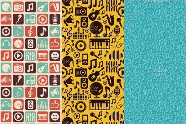Music Icon & Seamless Pattern