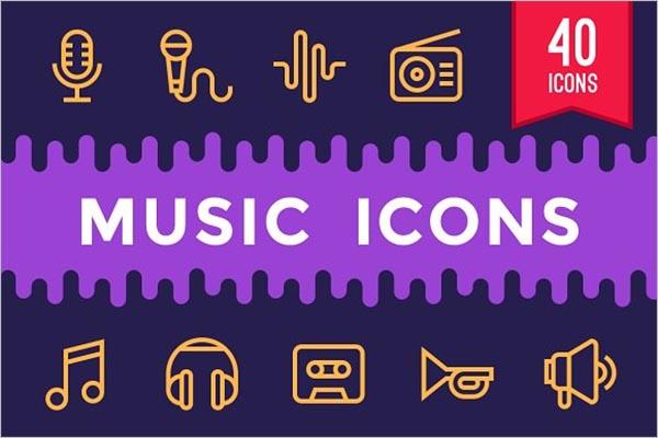 Music & Multimedia Icon Design